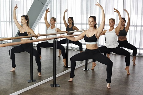 A Barre Class At Kaya Health Clubs In Melbourne CBD