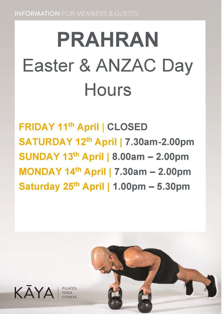 Easter Anzac Day Club Hours